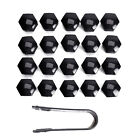 20x Wheel Nut Caps Bolt Covers For Audi Vw Vauxhall Bmw Mercedes Renault 19mm
