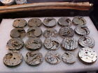 lot of 20 nickel American 8s to 18s pocket watch movements Altered Art Steampuk