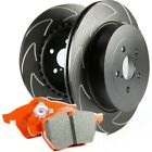 S8KF1094 EBC New Brake Disc and Pad Kits 2 Wheel Set Front for Toyota Sienna