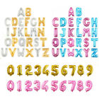 LETTER Foil Number Gold Pink Blue Balloons Air Large Happy Birthday Party Ballon