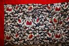 c'19th Chinese Silk Embroidery 5 Sleeve Bands Textile Panel Birds Floral Qing #2