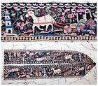 c'19th Qing Dynasty Chinese Embroidered Silk Robe Sleeve Band Scenic Textile 37
