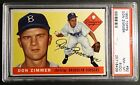 1955 TOPPS #92 DON ZIMMER RARE ROOKIE RC PSA 8 OC BROOKLYN DODGERS (601)