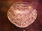 Vintage Dazzling Glass Bowl Candy Dish Collectible #Q6