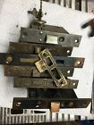 Lot Of Mortise Antique Door Latches, 1 Catch, 2 With Keys, East Lake