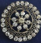 Gorgeous Button - Paste Jewels in claw set setting - Openwork; Large 1 5/8