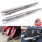 4 Motorcycle Slip On Mufflers Exhaust Pipe For Harley Touring Dresser 1995 2016