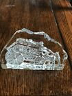 Shayrich Etched Crystal Stagecoach Collectible Sculpture With Lined Case