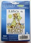 LIFES A BEACH Dog in the Sun Counted Cross Stitch Kit 5 x 7