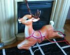 34 Empire reindeer blow mold outlined painted removable antlers lights sleigh