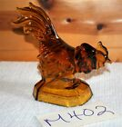 Vintage L.E.Smith Glass Rooster Bookend Paperweight Brown Amber Color HEAVY M402