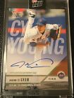 2018 TOPPS NOW #AW4A JACOB DEGROM AUTO # 71 99 2018 NL CY YOUNG AWARD WINNER