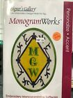 DESIGNERS GALLERY MONOGRAM WORKS EMBROIDERY LETTERING SOFTWARE FONTS EDG TP6