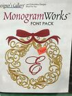 DESIGNERS GALLERY MONOGRAM WORKS CHRISTMAS FONT PACK EMBROIDERY LETTERING