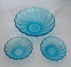 3 Pc Capri Seashell by Hazel-Atlas Turquoise 9