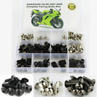 Complete Fairing Bolts Kit Bodywork Screws For Kawasaki 2007-2008 ZX-6R ZX-6RR