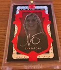 ALL TIME GREAT MASTER COLLECTION RED MARIA SHARAPOVA AUTO TENNIS CARD #11 20