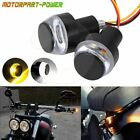 Motorcycle Handlebar Turn Signals Grip Bar End LED Plug Strobe AmberMarker Light