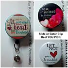 LET NOT YOUR HEART BE TROUBLED Retractable Reel ID Badge Holder You Pick Design
