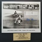 Don Larsen Signed 8X10 World Series Perfect Game Final Pitch Photo AUTO Yankees