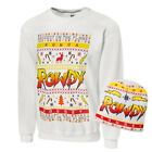 NEW WWE Ugly Holiday Christmas Sweatshirt & Beanie Rowdy Ronda Rousey 3XL