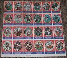 1972 Sunoco Football Stamp Sheet Denver Broncos Card 24dif New Player DAMAGED