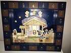 Kurt Adler J3767 Wooden Nativity Advent Calendar with 24 doors  21 Magnets
