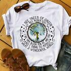 I See Trees Of Green Red Roses Too I See Them Bloom For Me Tshirt Women White