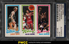 1980 Topps Larry Bird & Magic Johnson ROOKIE RC AUTO PSA DNA Auth (PWCC)