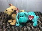 Lot of 2 - Authentic TY Beanie Babies Diddley & Whiskers w/ Mint Tags Retired