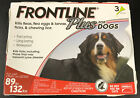 Frontline Plus for DOGS 89 132lbs 3 Doses 7308