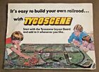 VINTAGE TYCOSCENE MODEL TRAIN ACCESSORY CATALOG TYCO 8 PAGES 1980S 85 x 11