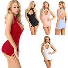 US Women Short Mini Dress Bodycon Cut Out Sleeveless Evening Party Cocktail Club