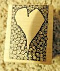 S106 Heart Surrounded by Swirls Magenta Rubber Stamp Stamper Love Valentines Day