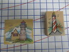 2 Hero Arts Sea Side Ocean Beach theme wm rubber stamps Light House Lighthouse
