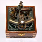 GERMAN BRASS WORKING WITH WOODEN BOX HANDMADE NAUTICAL COLLECTIBLE SEXTANT Q116