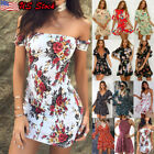 Women Short Sleeve Loose Mini Dress Ladies Summer Shirt Dress Holiday Beach Tops