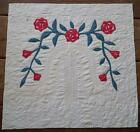 Antique Memorial Early 1800s Willow Tree Applique QUILT Pc 25 1/4