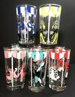 Libbey Circus Glasses Tumblers Clear Elephant Horse Acrobat Seal Set of 8