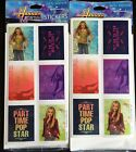 Hannah Montana Miley Cyrus Two Packs of Stickers Each Pack has 4 sheets