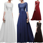 Women's Chiffon Dress Maxi Evening Lace Slim Fit Elegant Ladies Cocktail Party