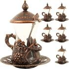 Authentic Handmade Turkish Tea Serving Set Glasses Saucer Set of 6
