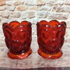 Stars Footed Toothpick Holders Vintage Set of 2