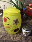 Vintage Barlett Collins Gay Fad Hand Painted Fruit With Gold Leaves Cookie Jar