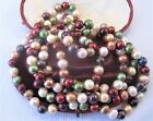 A Wonderful Multi Coloured Pearl Necklace