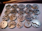 lot of 20 nickel 0s-18s pocket watch movements altered art steampunk etc