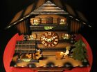 REGULA GERMANY BLACK FOREST ANIMATED SWISS MUSICAL CHALET CUCKOO CLOCK - WORKS !