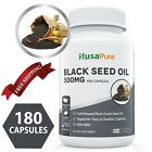 100% Pure Black Seed Oil Vegan Organic 180 Caps Cumin USA Non GMO Cold Pressed