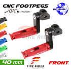 For Ducati Monster 1000 / ie All Year 40mm Riser CNC Billet Front Footpegs