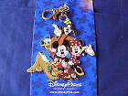 Disney  MICKEY  FRIENDS  New on Card Pin Trading Lanyard Medal